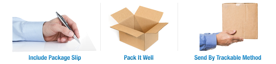 Include Package Slip | Pack It Well | Send By Trackable Method